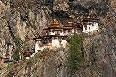 Het Klooster van Taktshang (het Nest van de Tijger) in Bhutan Stock Foto