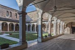 Het klooster van tempio San Lorenzo, een Katholieke plaats van San Lorenzo Church van verering in Vicenza, bouwde de Gotische sti royalty-vrije stock foto