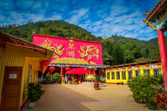 Het Klooster van tienduizendtalbuddhas in Sha-Tin, Hong Kong, China Royalty-vrije Stock Foto's