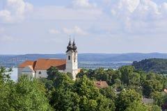 Het klooster van Tihanyabbey benedictine Stock Fotografie