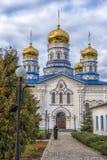 Het Klooster van Tikhvinbogorodichny Uspensky is Orthodox m van vrouwen Royalty-vrije Stock Fotografie