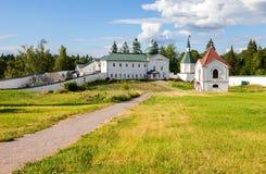 Het Klooster van Valdayiversky in het Novgorod-gebied, Rusland Stock Afbeeldingen
