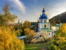 Het klooster van Vidubetsky Stock Afbeeldingen