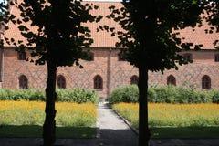 Het Klooster van Vorfrue, een Carmelite klooster in Elsinore Helsing Stock Foto