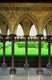 Het kloostergeep van het Saint Michel van Mont Stock Foto's