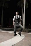 Het knappe mens dansen Stock Afbeeldingen