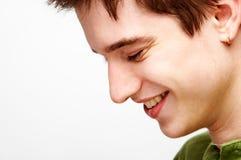 Het knappe mens glimlachen Stock Foto