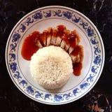 Het knapperige varkensvlees van de rijst Stock Foto's