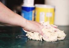 Het knedende Deeg van de Tortilla Royalty-vrije Stock Fotografie
