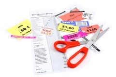 Het Knippen van de coupon Royalty-vrije Stock Fotografie