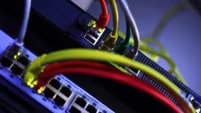 Het knipperen Ethernet stock video