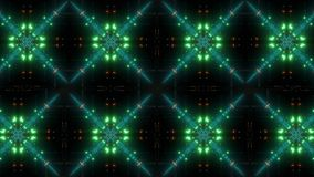 Het knipperende en gloeiende multipatroon van de kleurencaleidoscoop stock video