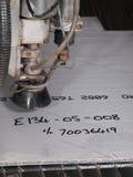 Het knipsel van de waterdruk door roestvrij staalmaterialen royalty-vrije stock afbeeldingen
