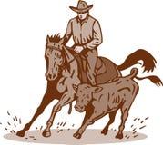 Het knipsel van het de cowboypaard van de rodeo royalty-vrije illustratie