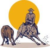 Het knipsel van het de cowboypaard van de rodeo stock illustratie