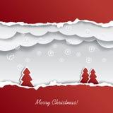 Het knipsel van het kerstkaartontwerp Vector Illustratie