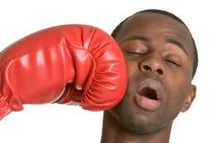 Het Knockout van de bokser Royalty-vrije Stock Foto's