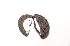 Het koekje van de chocoladeroom stock afbeeldingen