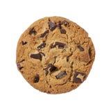 Het Koekje van de Chocoladeschilfer dat met een het knippen klopje wordt geïsoleerdi Royalty-vrije Stock Foto