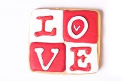 Het Koekje van de Dag van de valentijnskaart Stock Afbeelding
