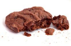Het koekje van de de chocoladebrok van de close-up royalty-vrije stock afbeeldingen