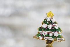 Het koekje van de kerstboom royalty-vrije stock afbeeldingen