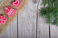 Het koekje van de Kerstmispeperkoek Stock Foto's