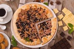 Het koekje van de pizzachocolade stock afbeelding