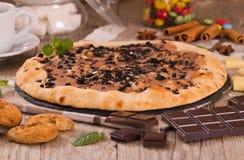 Het koekje van de pizzachocolade stock fotografie