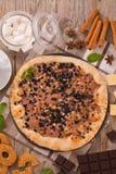 Het koekje van de pizzachocolade stock afbeeldingen