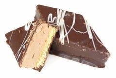 Het koekje van de soufflé in chocolade Stock Afbeeldingen