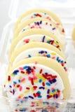 Het Koekje van de suiker met Wit Suikerglazuur Stock Foto