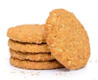 Het koekje van het haverkoekje Stock Afbeeldingen