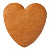 Het koekje van het peperkoekhart stock afbeelding