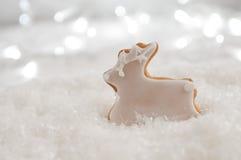 Het Koekje van het Rendier van de Peperkoek van Kerstmis royalty-vrije stock afbeeldingen