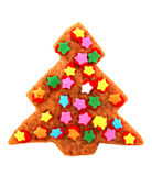 Het koekje van Kerstmis - verfraaide boom stock foto