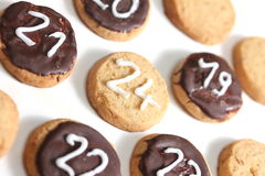Het koekje vierentwintigste van Kerstmis van december Royalty-vrije Stock Afbeeldingen