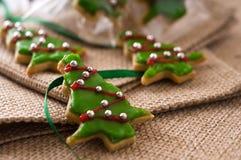Het koekjesboom van Kerstmis Royalty-vrije Stock Afbeeldingen