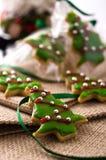 Het koekjesboom van Kerstmis Stock Afbeelding