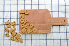 Het koekjescracker van alfabetkoekjes Stock Foto