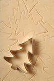 Het koekjessnijder van de kerstboom Royalty-vrije Stock Foto's