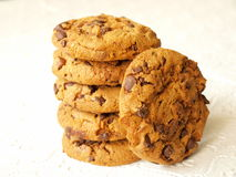 Het koekjesspaanders van de chocolade Royalty-vrije Stock Fotografie
