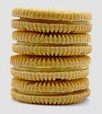 Het koekjesstapel van de citroen Royalty-vrije Stock Foto's
