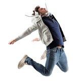 Het koele Mens Springen Stock Foto's