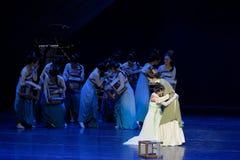 Het koesteren en de schreeuwen-tweede handeling: een feest in de van het paleis-heldendicht de Zijdeprinses ` dansdrama ` royalty-vrije stock afbeelding