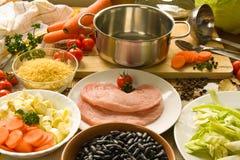 Het koken stock afbeelding