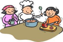 Het koken stock illustratie
