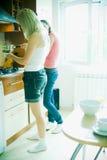 Het koken Stock Foto's