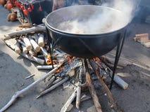 Het koken bij de ketel
