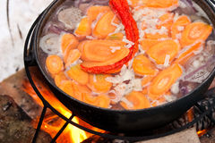 Het koken Chorba Stock Foto